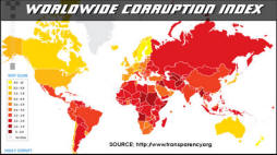 Worldwide Corruption Index from Transparency.org